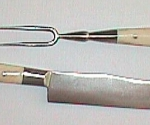 Bone-Handled Fork and Knife Set